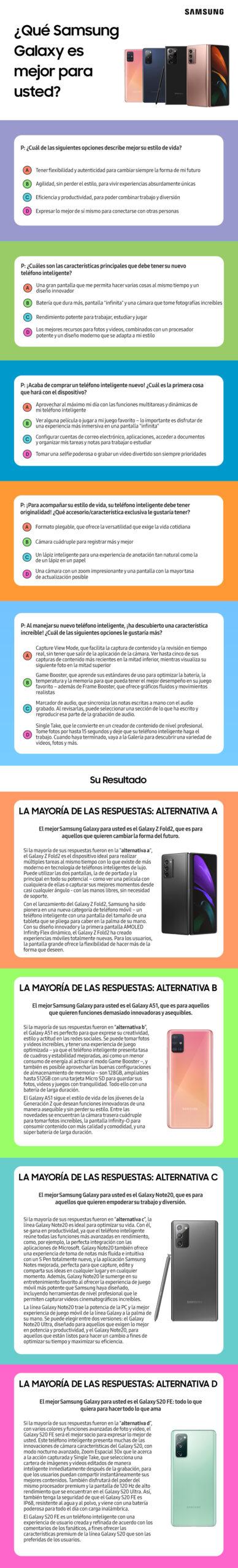 ¿Cuál Samsung Galaxy es mejor para ti? ¡Haz la prueba y descúbrelo!