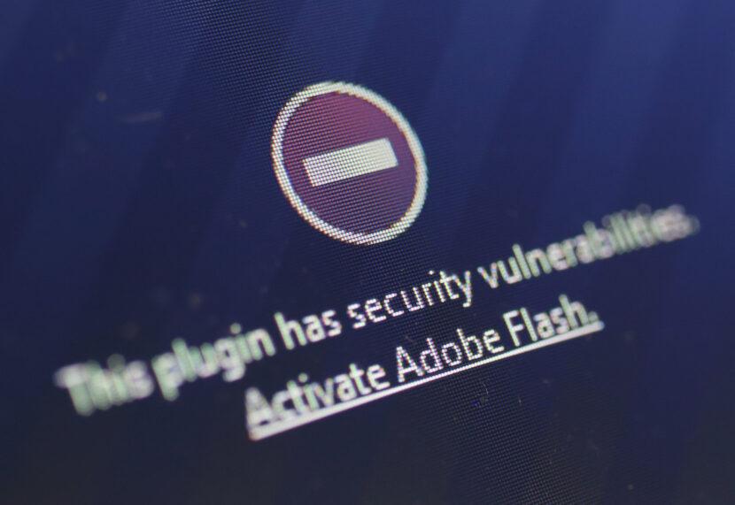 Adobe Flash finaliza el jueves y debe desinstalarlo por razones de seguridad.