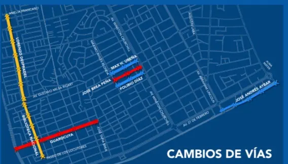 Conozca las calles que cambiarán de vía a partir de este sábado 16