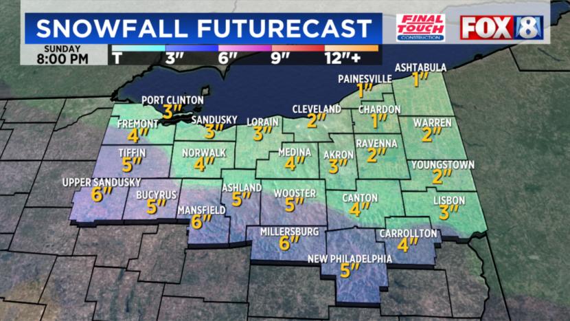 El aviso de clima invernal permanece vigente mientras la nieve continúa cayendo en el noreste de Ohio