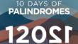 El palíndromo del día de la inauguración inicia un tramo de 10 días