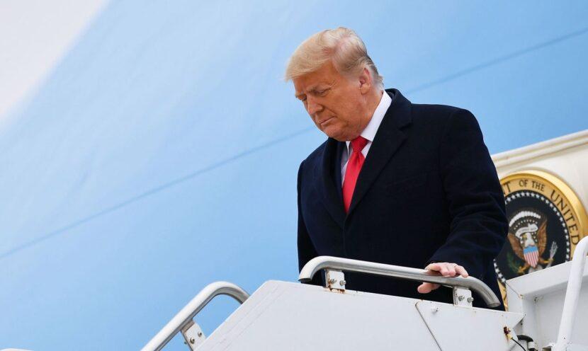 El presidente Trump dio un discurso de despedida