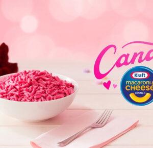 Kraft lanza macarrones con queso rosa con un toque de sabor a caramelo para celebrar el Día de San Valentín