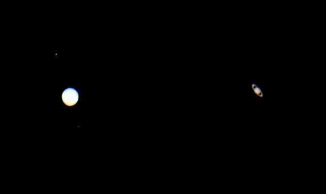 La rara 'triple conjunción' de Mercurio, Júpiter y Saturno este fin de semana