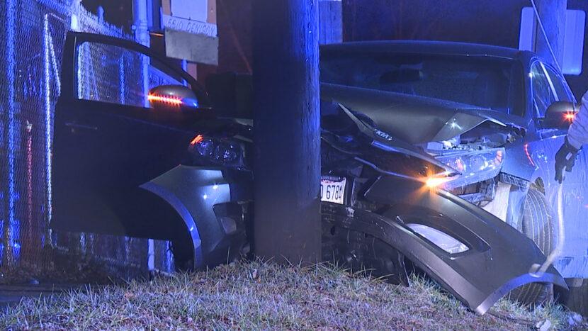 Sospechoso choca contra un vehículo de OSHP durante una persecución desde Strongsville hasta Cleveland