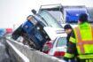 Cerca de 30 vehículos involucrados en choque en puente helado