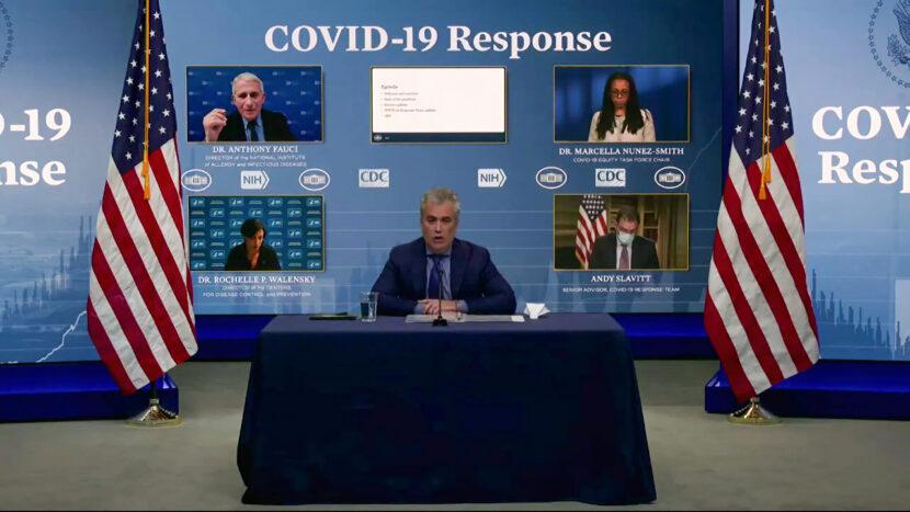 El equipo COVID-19 de Biden realiza una sesión informativa en medio de la solicitud de uso de emergencia de J + J