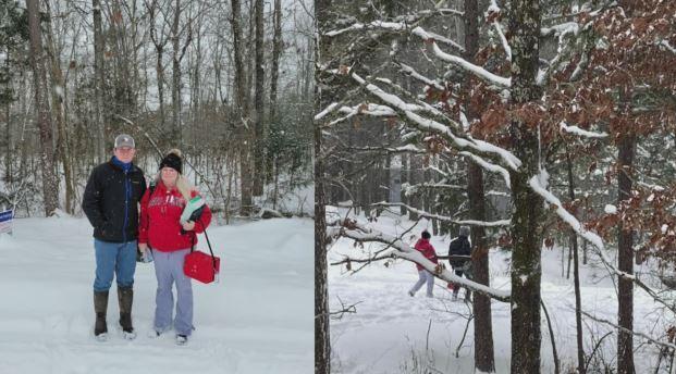Enfermera camina una milla en la nieve para tratar a pacientes atrapados en casa