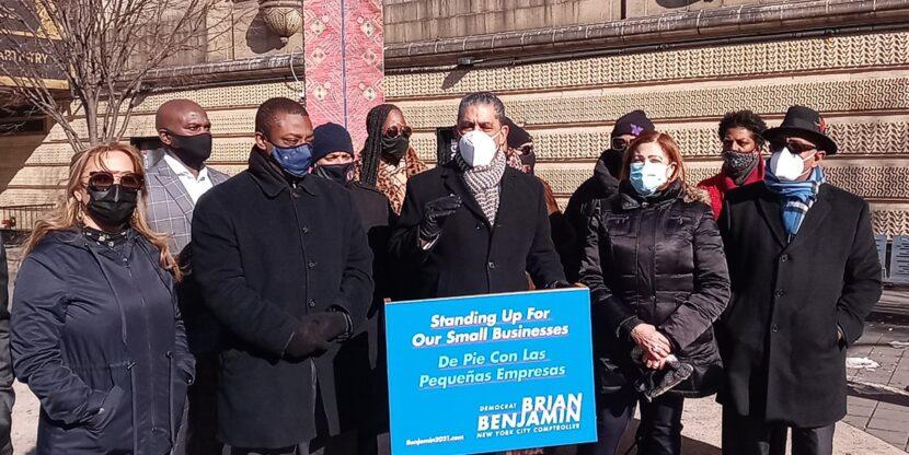 Espaillat y comerciantes del Alto Manhattan lanzan apoyo al senador