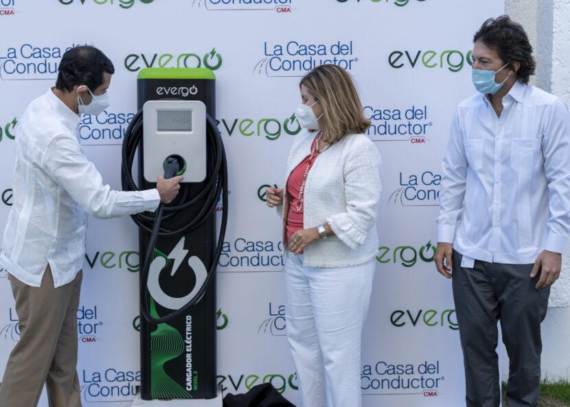 Evergo inaugura estación de carga en la Casa del Conductor