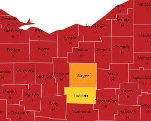 El condado de Ohio alcanza el nivel amarillo del sistema COVID-19 por primera vez desde noviembre