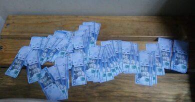 Incautan 500 mil pesos falsos en la estación Juan Pablo Duarte del Metro SD