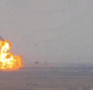 SpaceX Starship pega el aterrizaje y explota