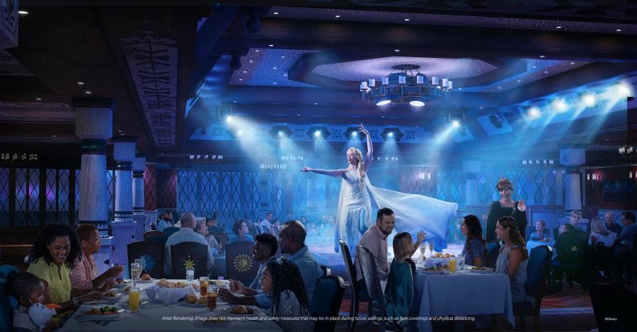 Disney Wish - Family Dining - Arendelle, una aventura gastronómica congelada