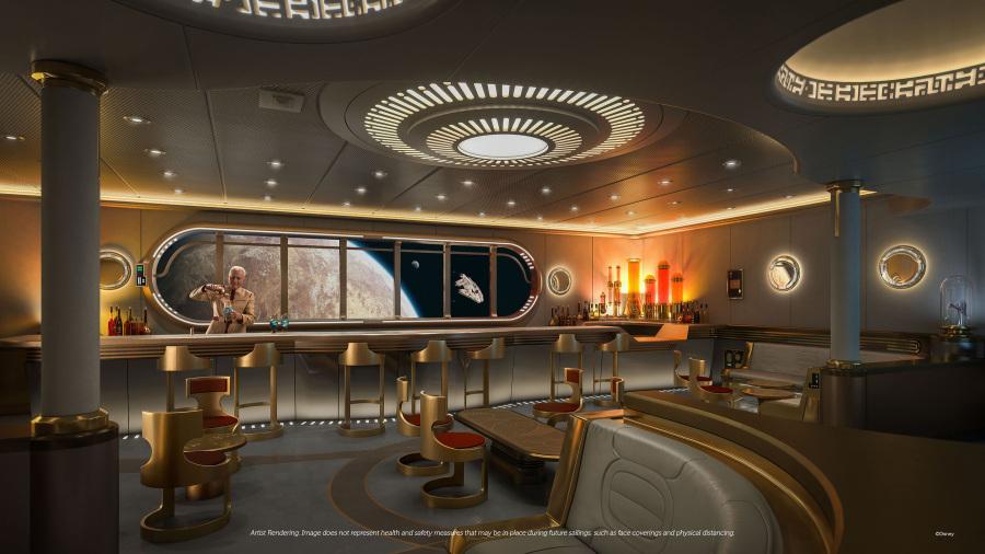 Disney Wish - Salón hiperespacial de Star Wars