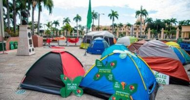 Movimiento a favor de las causales conmemora un mes de resistencia frente al Palacio Nacional