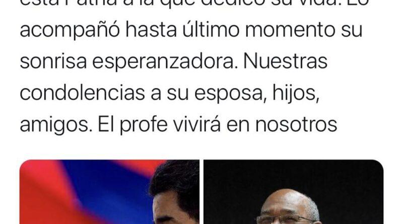 Murió Aristóbulo Istúriz, uno de los principales colaboradores del régimen de Nicolás Maduro y de Hugo Chávez