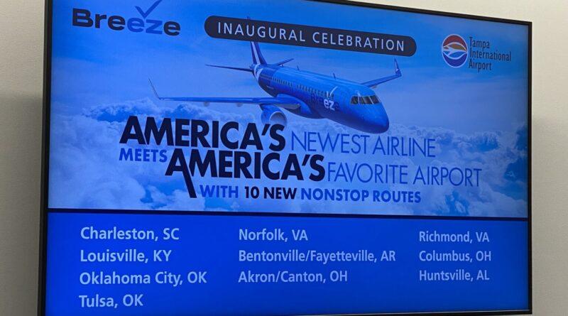 Breeze Airways comienza con lo básico para la inauguración
