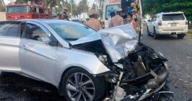 Seis niños y dos adultos heridos en un accidente en la avenida España