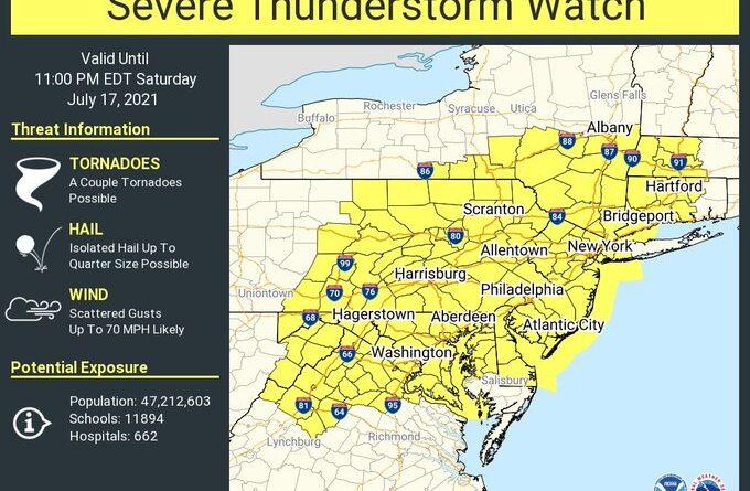 ACTUALIZADO: Arlington bajo inundaciones repentinas, relojes de tormentas severas