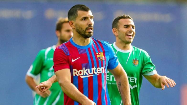 Luz verde para Agüero: juega 30' ante el Cornellà y marca un gol