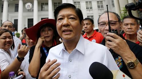 Hijo del dictador Ferdinand Marcos anuncia su candidatura a la presidencia de Filipinas