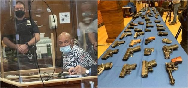 Acusan de 141 cargos portero dominicano por tráfico de cientos de armas que vendía frente a edificios donde vivía y trabajaba