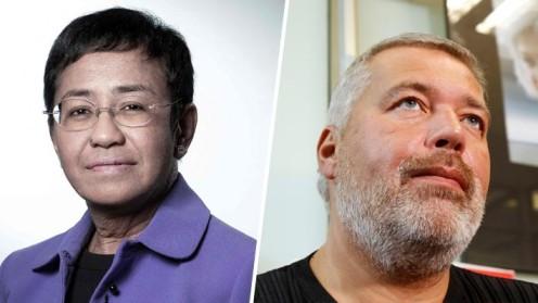 Periodistas María Ressa de Filipinas y Dimitri Muratov de Rusia ganan el Nobel de la Paz